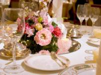 結婚式のディナー