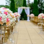 結婚式会場の花